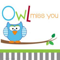 calling cards fill in owl miss you for boys lauren