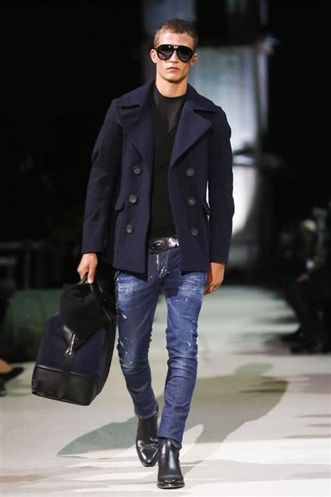 menswear denim winter 2015 trends dsquared2 menswear fall winter 2015 milan soul artist