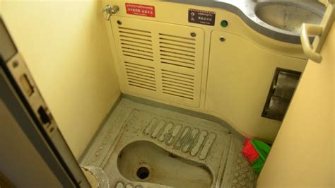 bathroom in tibet train
