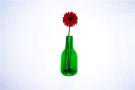 glass vase recycled bottle vase single flower by