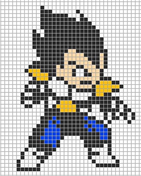 dragon ball vegeta pixel art templates minecraftpixelart org