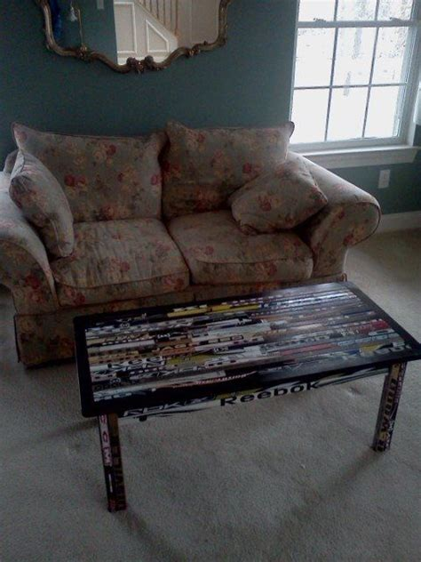hockey stick coffee table 17 best images about hockey stick furniture on