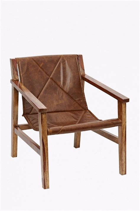 made com armchair leather sling back chair ukonlyitems french connection