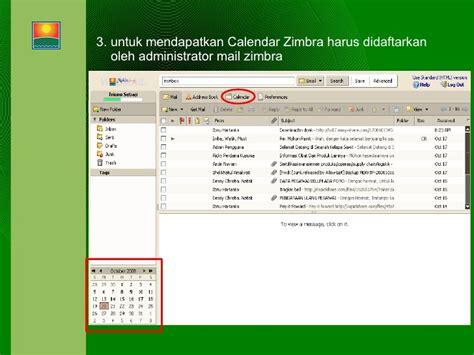 membuat reminder email zimbra collaboration