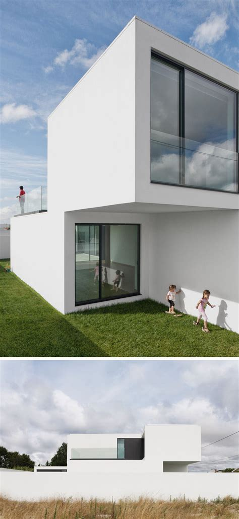 black window frames white house house exterior colors 11 modern white houses from around the world contemporist