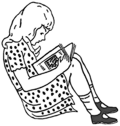 coloring pages girl reading girl reading in dress education reading girl reading in