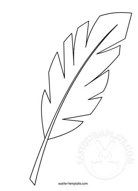 palm leaf template printable hosanna palm leaf easter easter template