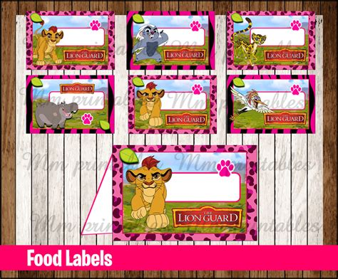Gift Card Instant - 80 off sale lion guard girl food tent cards instant download printable