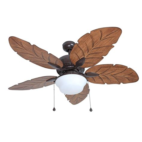 52 Outdoor Ceiling Fan With Light Shop Harbor Waveport 52 In Weathered Bronze Indoor Outdoor Downrod Mount Ceiling Fan With
