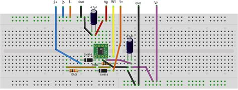breadboard circuit of half wave rectifier activity 2 diode i vs v analog devices wiki