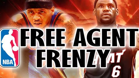 What Is Free Agency Mba by Nba Free Agency Lebron Carmelo Anthony To The