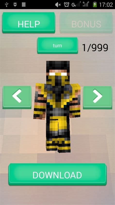 skins for android phone skins for minecraft pe free android app android freeware