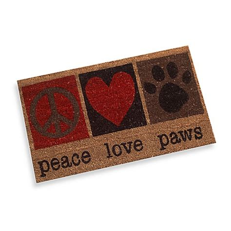 Peace Doormat - peace paws door mat bed bath beyond
