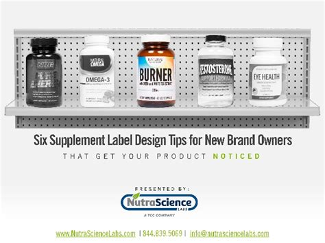 label design tips six supplement label design tips for new brand owners