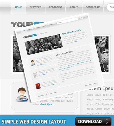 layout design psd free download simple web design layout psd free psd in photoshop psd