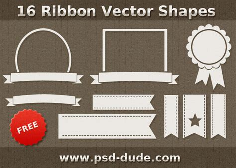 ribbon vector tutorial photoshop photoshop resources custom shapes psddude party
