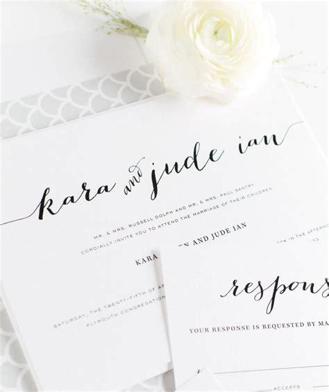 Wedding Invitations Calligraphy by Wedding Invitations Calligraphy Wedding Invites
