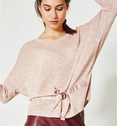 45647 Blouse Batwing Rosa 1 batwing sleeved jumper pale pink jumpers cardigans promod