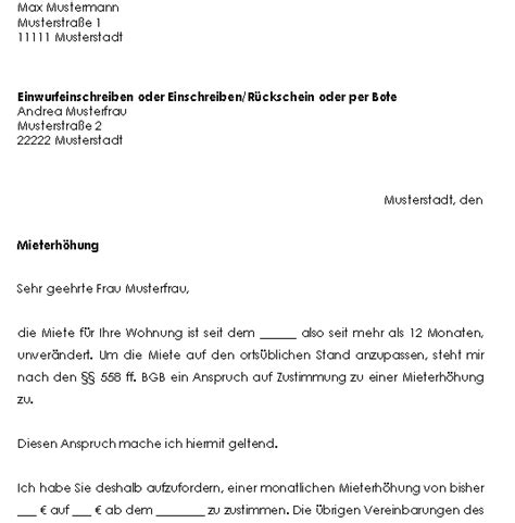 Vorlage Kündigung Wohnung Eigenbedarf Mustervertr 228 Ge F 252 R Vermieter Sofort Zum
