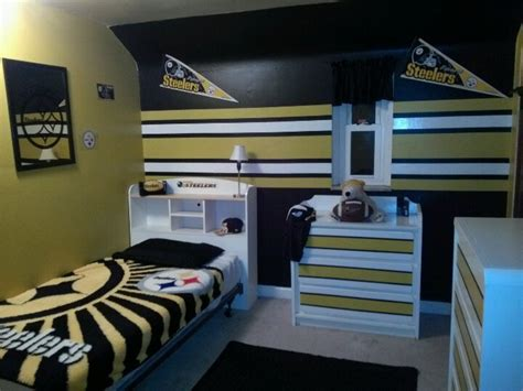 steelers bedroom steelers boys room love the steelers pinterest