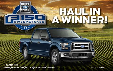 Ford Sweepstakes 2017 - win a 2017 ford f150 lease sweepstakes new truck michigan farm bureau
