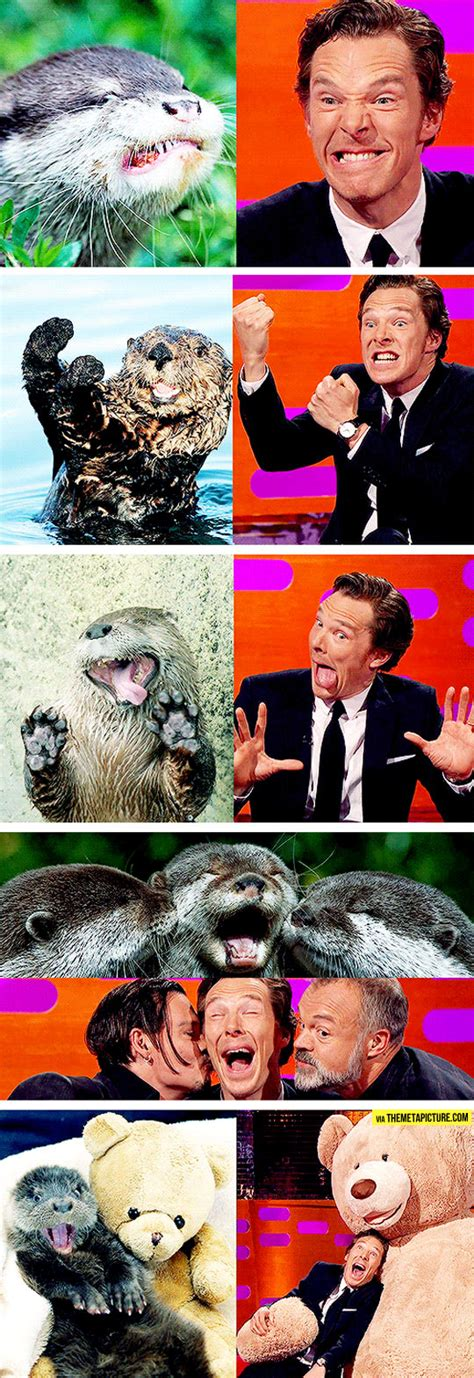 Benedict Cumberbatch Otter Meme - benedict cumberbatch reenacts otter memes i love him