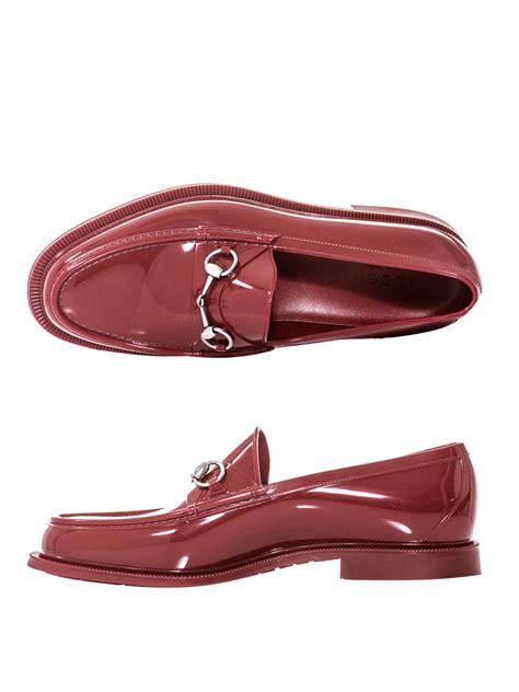 gucci rubber loafers gucci rubber loafers in for lyst
