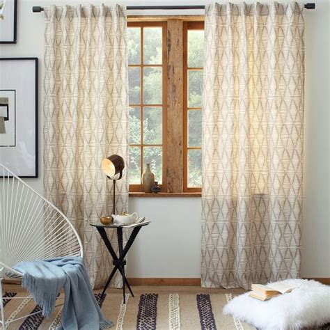 cotton canvas curtains cotton canvas printed window panel koba contemporary