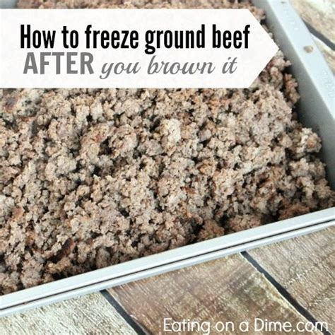 how to freeze ground beef after you brown it eating on a dime