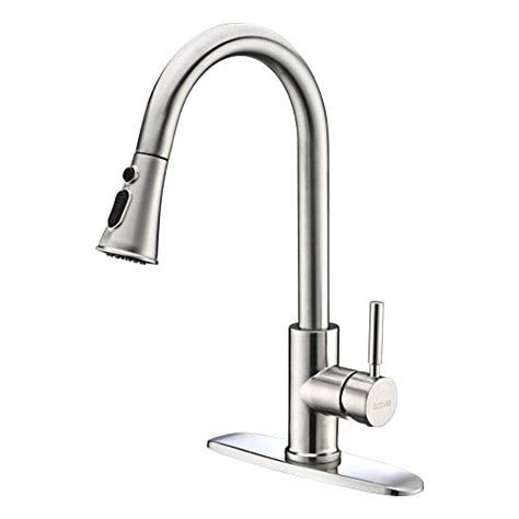 single lever kitchen faucets 2018 kitchen faucets with pull sprayer kablle commercial single handle brushed nickel kitchen