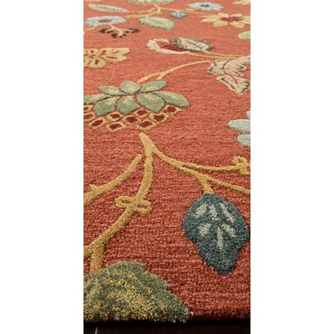 wool floral rugs jaipur rug1 blue tufted floral pattern wool multi area rug homeclick