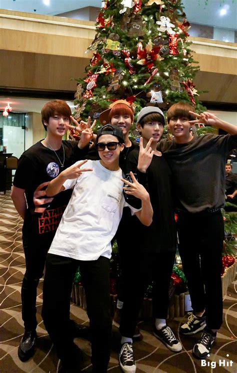 bts bangtan boys christmas picture fb starcast bangtan room summer christmas