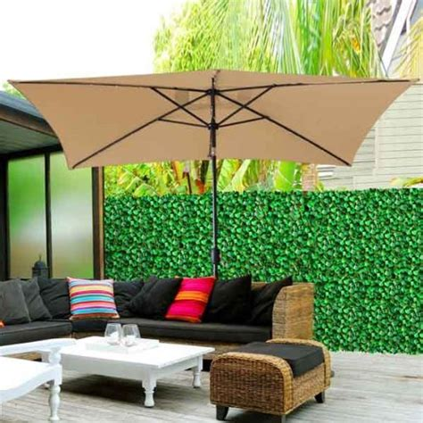 outdoor umbrella with solar lights best rectangular patio umbrella with solar lights