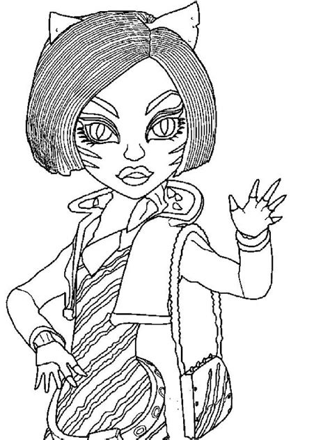 monster high coloring pages toralei stripe toralei monster high coloring pages