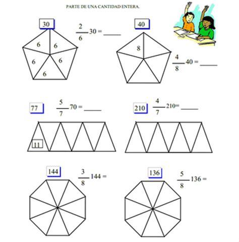 figuras geometricas fracciones modelos did 225 cticos para primaria fracci 243 n de un n 250 mero