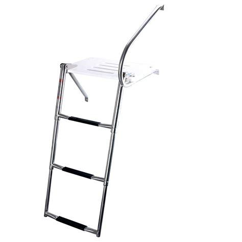 boat ladder brackets boat swim polyethylen outboard platform stainless rail