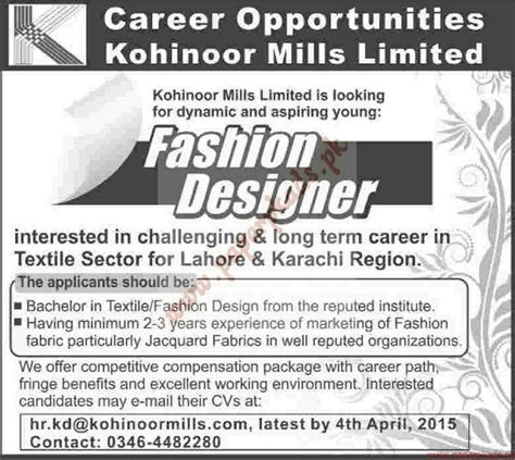 whos the fashion designer in the cadillac commercial fashion designers jobs dawn jobs ads 22 march 2015 paperpk