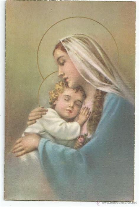 imagenes virgen maria y el niño jesus postal la virgen maria y el ni 241 o jes 250 s a 241 o comprar