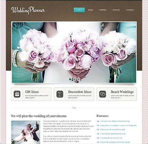 wedding planner website template 10 top wedding website templates for your best moments