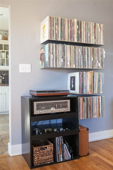 Records Shelf by Floating Vinyl Record Shelves Bk Apartment