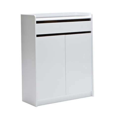 White Shoe Cabinet With Doors by Feels Like Home 2 Door White Shoe Cabinet With 1 Drawer