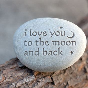 i love you to the moon and back message from sjengraving on