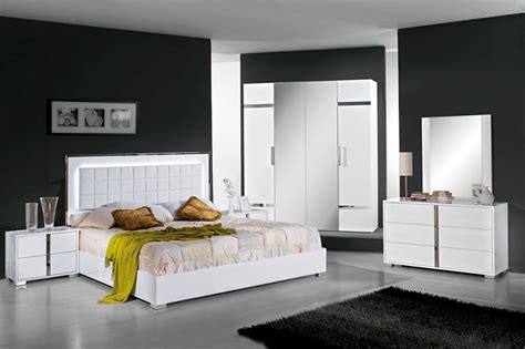 Elite Bed 180 Set white high gloss bedroom white high gloss bedroom