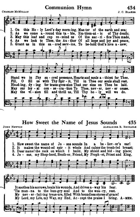 come to the table hymn favorite hymns of praise 434 on this holy lord s day