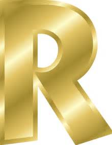 Alphabet Letter R vector Clip Art R