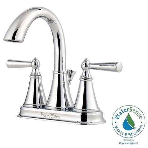 single handle chrome 4 inch centerset sink faucets
