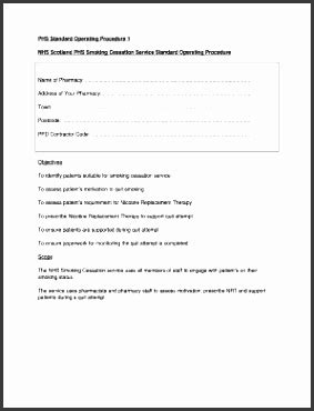 supply sop template 11 editable standard operating procedure template