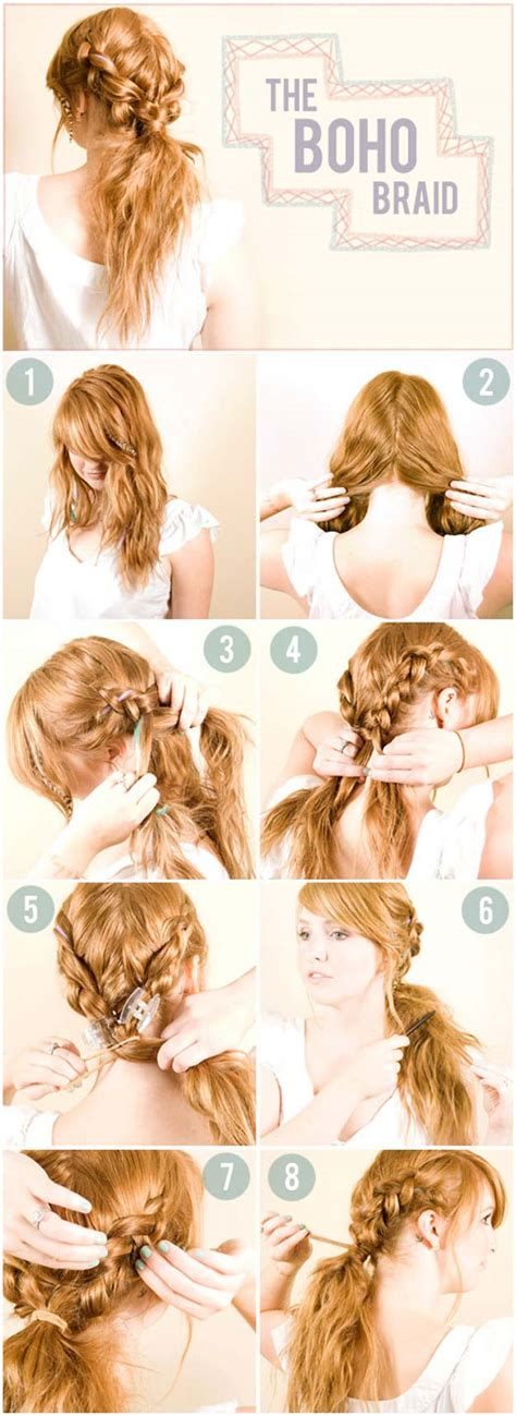 cool braided hairstyles step by step 40 of the best cute hair braiding tutorials diy projects