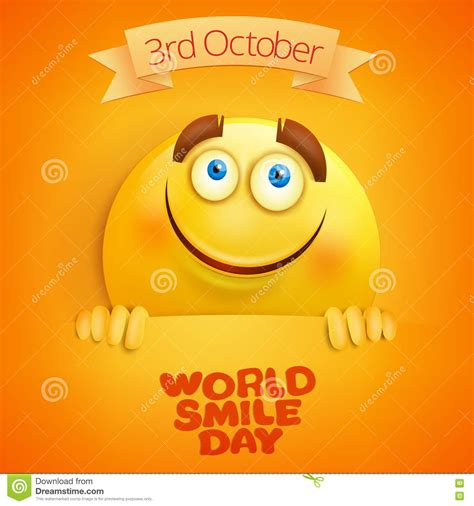 smile templates for cards yellow smiley world smile day card template stock