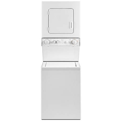 stackable washer dryer hook up sink shop whirlpool gas stacked laundry center with 1 5 cu ft